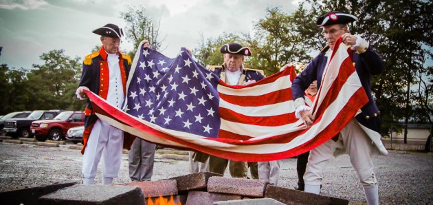 Flag Retirement by the Heroes of 76